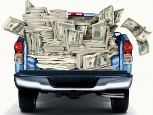 truckload of money